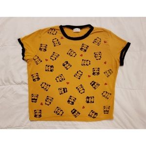 3/$30 ✅ Mustard yellow panda stretchy top